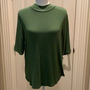 AnnTaylor apple green mock sweater